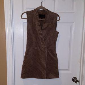 BCBG Mazazria Brown Suede Dress